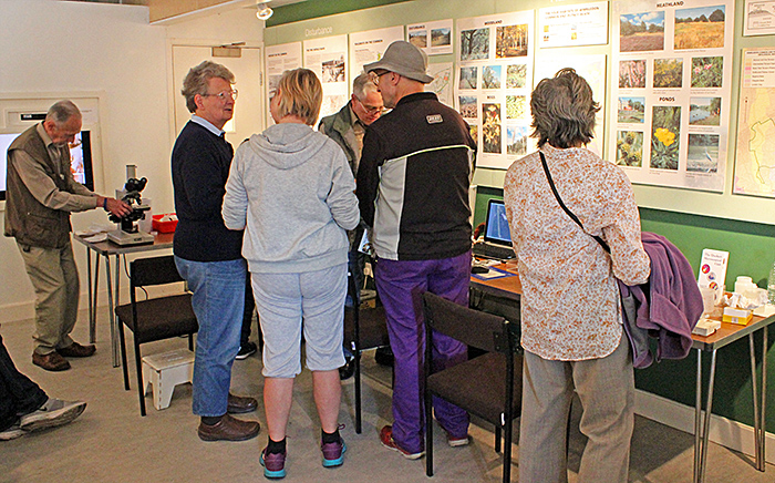 Mary Morris and Barry Wendon with adult visitors