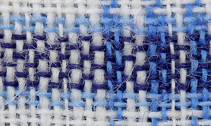 Blue and white handkerchief
