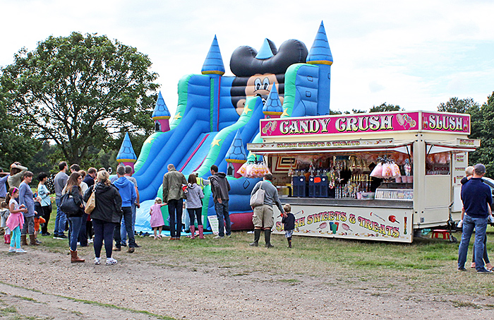 Bouncy castle and Candy Crush