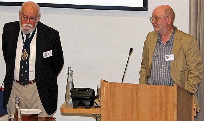 Carel Sartory introducing David Linstead