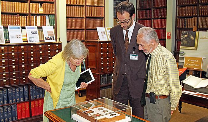 Examining some of Quekett's slides