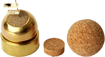 Hinchcliffe brass and cork balls