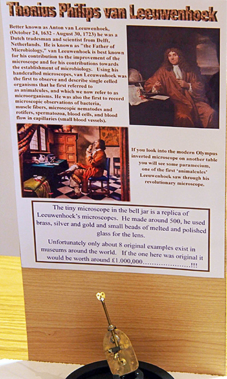 Replica van Leeuwenhoek microscope