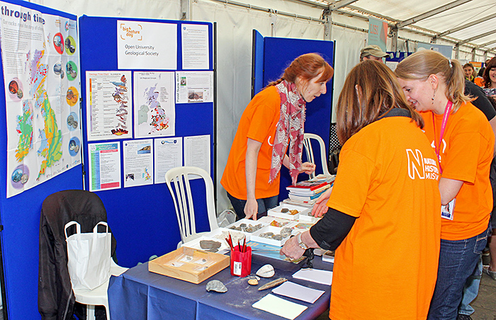 Open University Geological Society stand