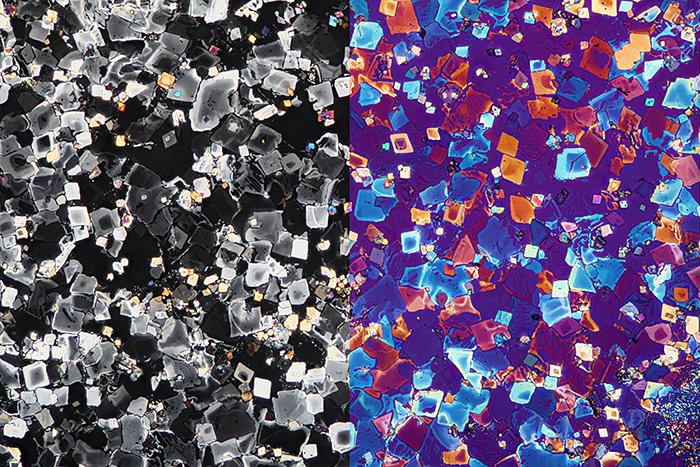 Potassium chlorate crystals