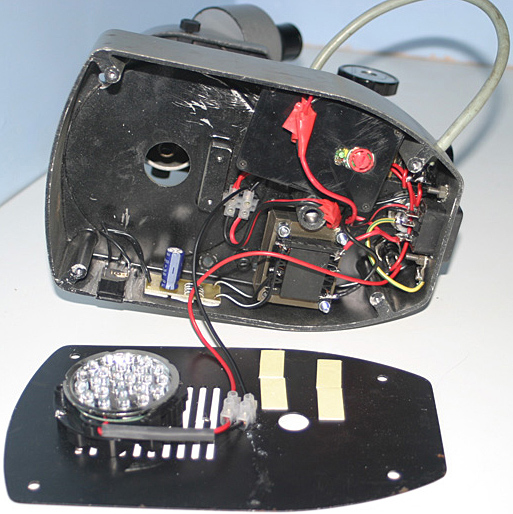 LED conversion of stereomicroscope