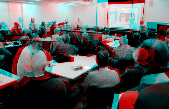 Stereo pair of meeting for red/cyan anaglyph glasses