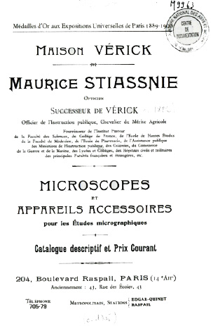 Maurice Stiassnie catalogue