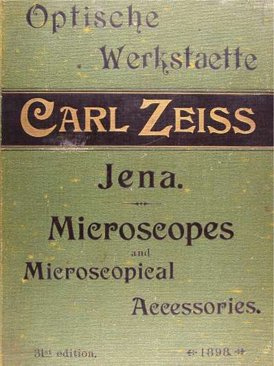 Zeiss catalogue cover