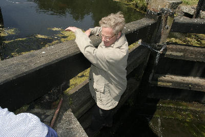 Maurice Moss on the lock gates