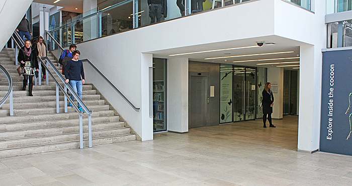 Entrance to the Angela Marmont Centre