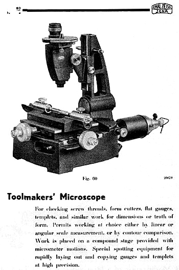 Zeiss Toolmakers' Microscope