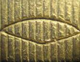 Edge details on £1 coin
