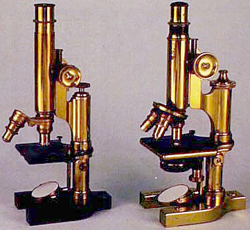 Brass Bausch & Lomb microscopes