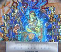 Hologram on £10 note