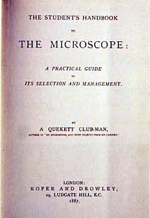 Title page – The Student's Handbook to the Microscope