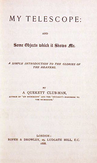 Title page – My Telescope