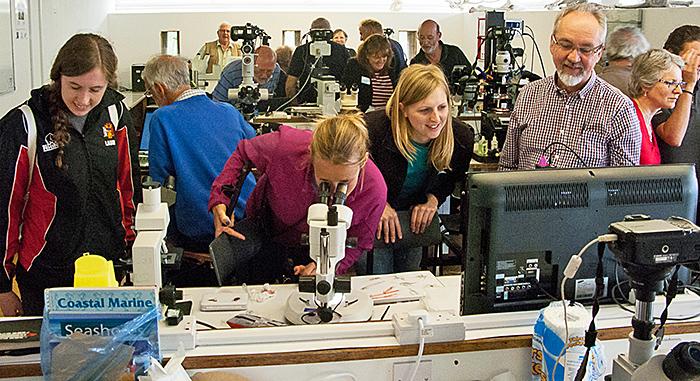 Visitors in the laboratory