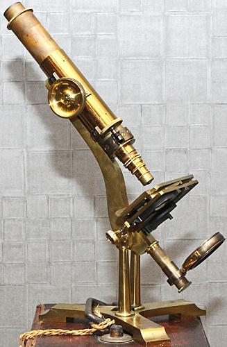 Brass monocular microscope