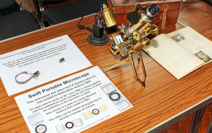 Peter Sartory's Swift portable microscope