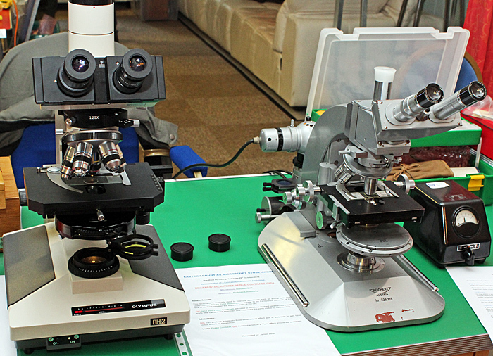 James Rider's Olympus BHS and Reichert Zetopan microscopes