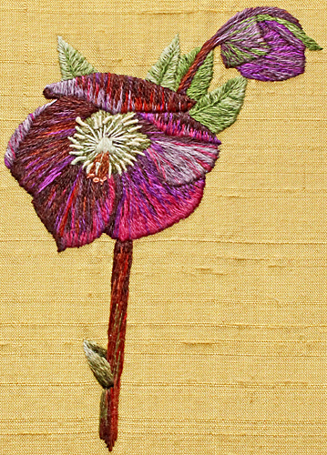 Silk embroidery by Joan Bingley