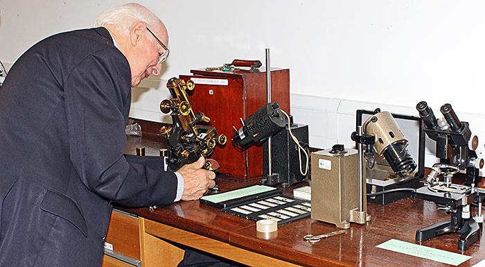 Tony Dutton with his exhibit