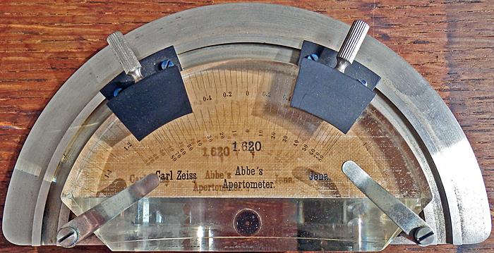 Abbe's apertometer, by Carl Zeiss Jena