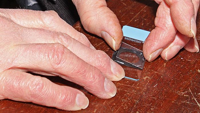 Applying a coverslip