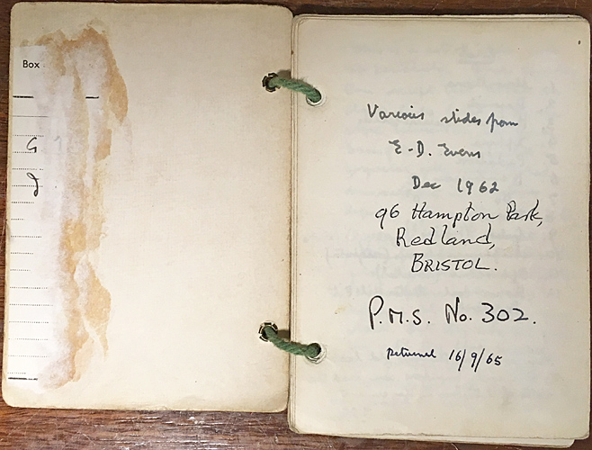 Postal Microscopical Society notebook 302
