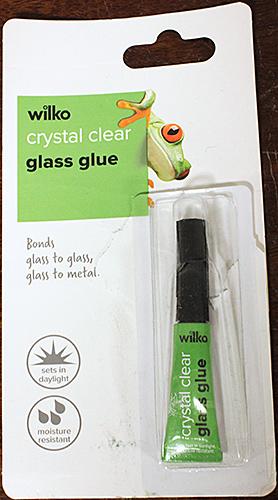 Wilko crystal clear glass glue