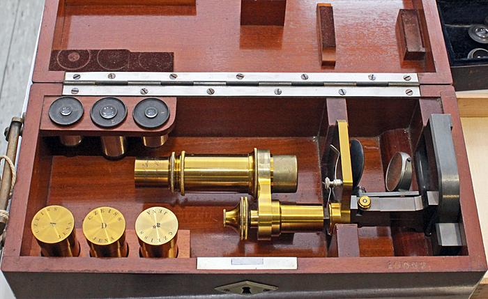 Brass Carl Zeiss Jena microscope