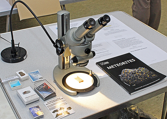 Kit Brownlee's meteorite exhibit