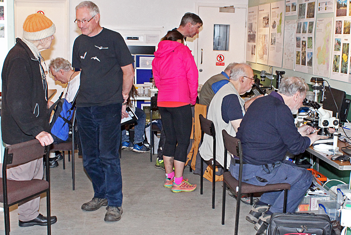 Members and visitors in the Information Centre