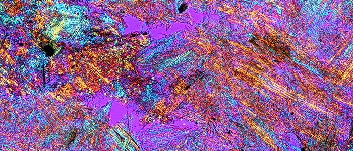 Wasp-nest paper (crossed polarisers + retarder)