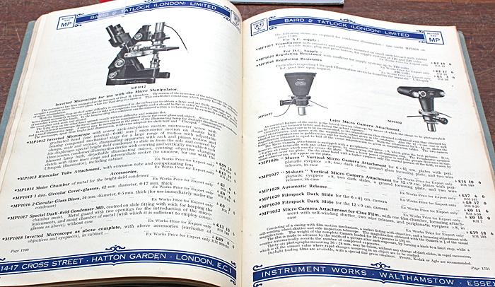 Baird & Tatlock catalogue
