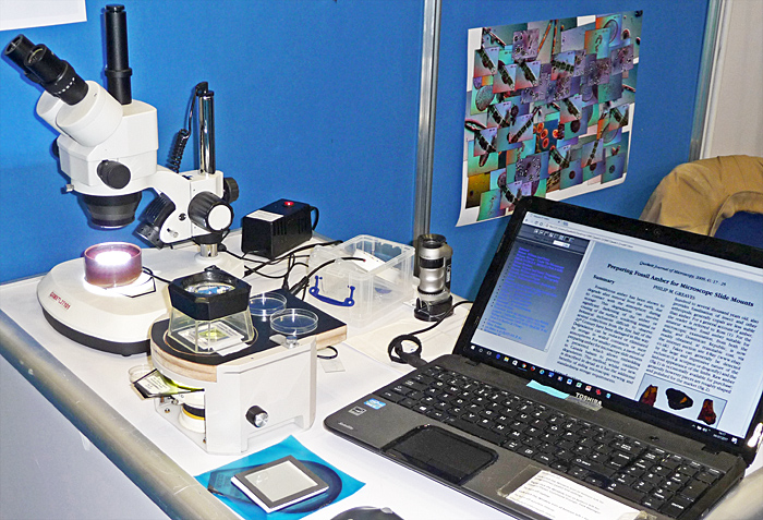 Stereomicroscope, and the Journal on a USB drive