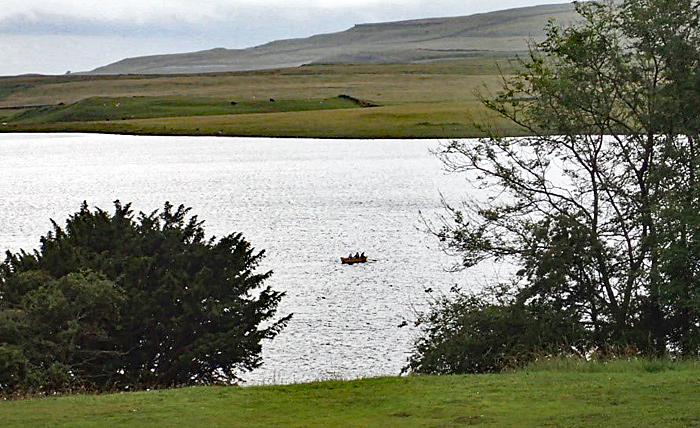 Small boat on the tarn