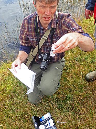 Martyn Kelly measuring pH