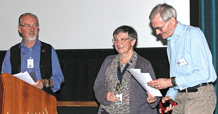 John Rhodes receiving his certificate