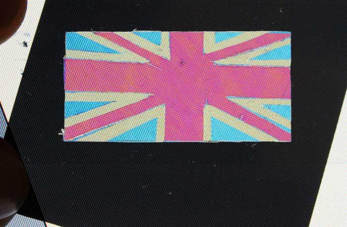 Birefringent Sellotape Union flag