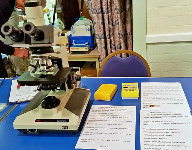 James Rider's exhibit of geological slides