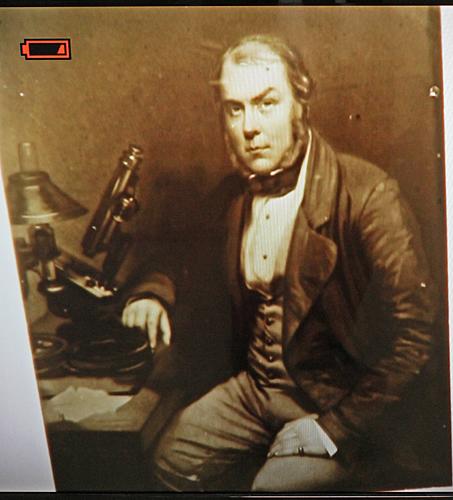 Microphotograph of Professor Quekett