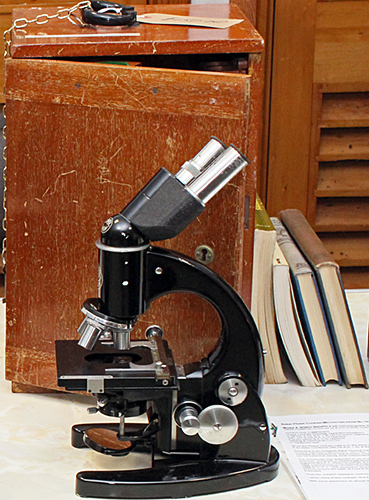 Baker Model 4 phase contrast microscope