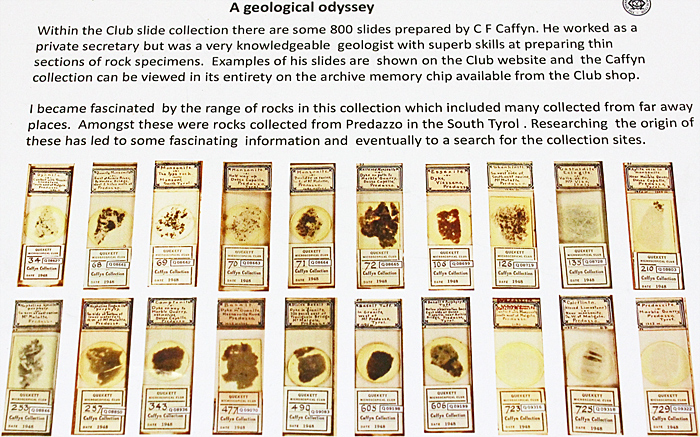 Geological slides by C. F. Caffyn