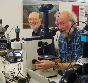 In the lab: Chris Adams and Geoff Phillips