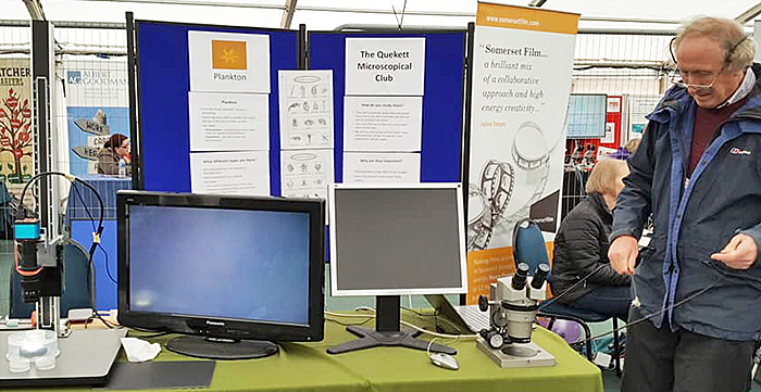 Quekett Microscopical Club stand