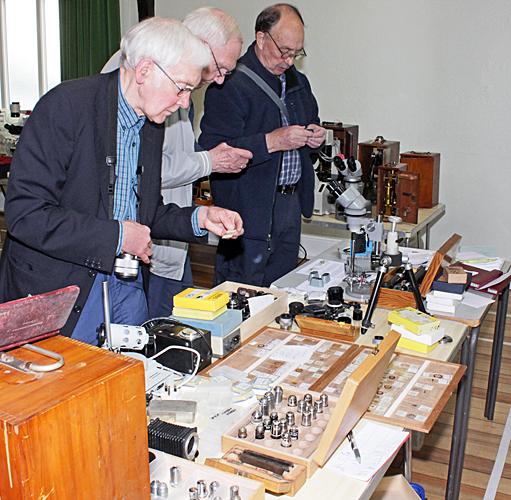Derek Haworth, John Birds and Peter Massington