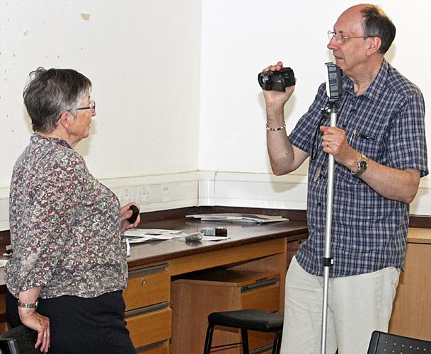 Chris Thomas interviewing Joan Bingley