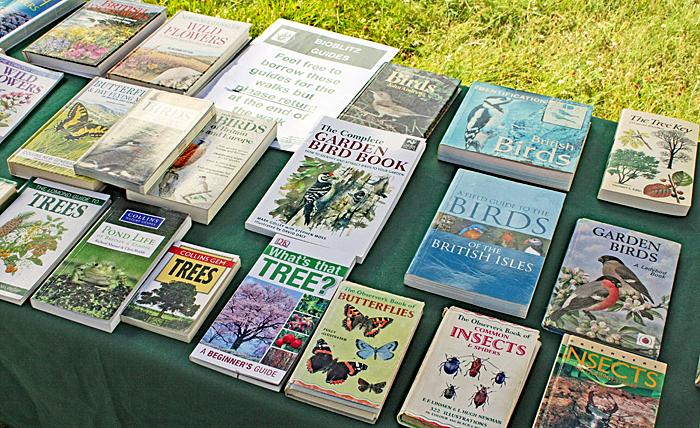 Books for identifying insects, pond life, plants, birds, etcetera
